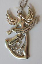 b Savannah Never Drive faster than your GUARDIAN ANGEL can fly CAR CHARM ganz