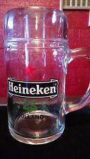 Collectable Vintage Glass Tall Heineken Mug
