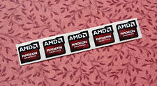 Lot of 10 AMD Radeon Graphics Stickers 16.5 x 19.5mm Case Badges New Version