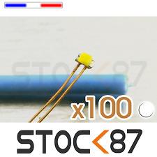 C144BL/100# lot de 100 LED 0402 CMS pré-câblées Blanc  -  white LED