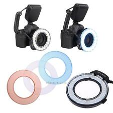 RF-550D Dimmable LED SLR Cameras Macro Ring Flash For Canon Nikon 3000-15000K