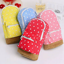 Travel Cosmetic Makeup Pencil Case Bag Storage Box Purse Wash Toiletry Pouch Red