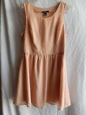Forever 21 Dress size Large Dusty Rose Side Zip Sleeveless Mini EUC