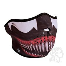 Toxic Alien Fangs Teeth Neoprene Half Face Mask Biker Costume ATV Paintball Ski