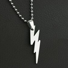 The Flash Silver Pendant Titanium Steel Necklace Stainless 1pc Hot