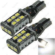 Pair T10 1250 2450 15 SMD 2835 LED Side Marker Lamp Canbus Error Free Auto ZA125