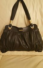 MODALU OF LONDON BLACK LEATHER HAND BAG  VERY GOOD CONDITION