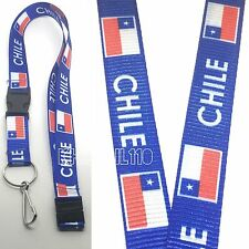 Chile Flag Clip On Keychain Lanyard