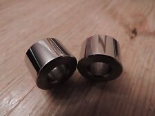 42-6900 S,BSA A10,A7,B31, PAIR REAR INNER MUDGUARD STAY SPACERS, STAINLESS STEEL