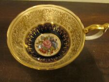 Aynsley England Tea Cup Only No Saucer Signed J A Bailey Rose Cobalt Blue Gold
