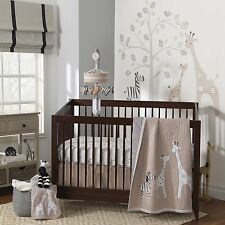 Lambs & Ivy 4 Piece Baby Nursery Crib Bedding Set Elias w/ Bumper  NEW