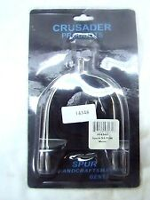 Crusader Products stainless steel MENS size POW spurs w/nylon straps english