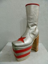 Glam rock era Platform boots made to order to your size made of genuine leather