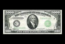 Incorniciato stampa - 5000 cinquemila dollaro distinta (foto poster arte moneta cartacea)