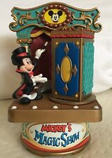 SORCERER MICKEY MOUSE MAGIC SHOW FANTASIA RARE VTG MUSIC BOX ENESCO MINNIE GOOFY