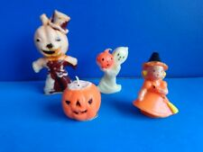 VINTAGE GROUP OF HALLOWEEN CANDLES- WITCH- GHOST- JOL MAN- PUMPKIN