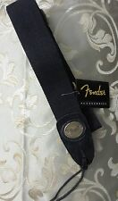 FENDER COTTON WOVEN GUITAR STRAP WITH OVAL EMBOSSED METAL LOGO