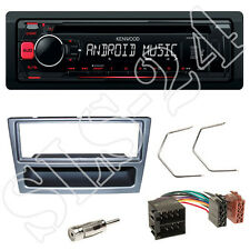 Kenwood KDC-100UR Autoradio Set Renault Trafic II Blende anthrazit ISO Adapter