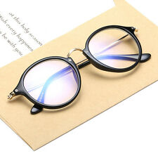 Unisex Vintage Clear Lens Eyeglasses Frame Retro Round Men Women Glasses