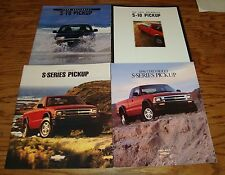 1995 1996 1997 1998 Chevrolet S-10 Pickup Sales Brochure Lot of 4 Chevy