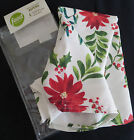 Food Network Holly & Pine Pointsettia Napkins Christmas Holiday Set of 4 NWT