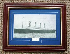 FRAMED POSTCARD SIZE PRINT TAKEN FROM AN ORIGINAL ANTIQUE PRINT OF RMS TITANIC