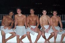 Shirtless Frat Jock Hunks In Towels Muscular Dudes Party Guys PHOTO 4X6 C779