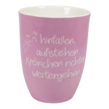 Mea Living, hinfallen, aufstehen,... Kaffee Tasse Becher mit Henkel Porzellan