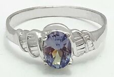 ALEXANDRITE 0.76 Carats 14k Solid White Gold Ring *FREE SHIPPING SERVICE*