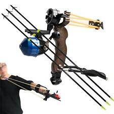"Hunting Fishing Slingbow Fish Slingshot Catapults +3PK 34"" Arrow Safety Slides"