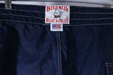 "VTG BIRDWELL BEACH BRITCHES Solid Blue Surf Swim Board Shorts 33"" Waist"