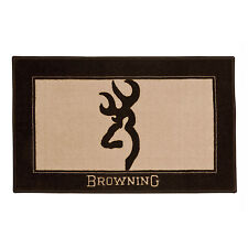 Browning® Buckmark Original Tan & Brown 1 Bath Mat Skid Resistant Backing