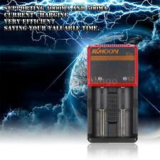 Li-ion NIMH NICD 18650 2 Slots Smart Battery Charger with Car Charger for AA/AAA