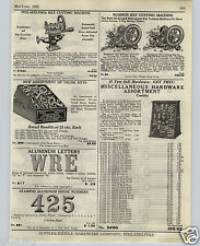 1925 PAPER AD Philadelphia Russwin Key Cutting Machine