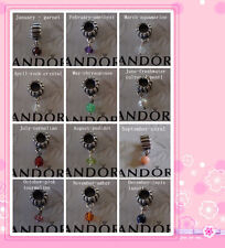 Authentic Pandora Sterling Silver Birthstone Charms 790166KO September - Coral