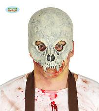 Latex Demi Crâne De Squelette Vert Masque Horreur Déguisement Halloween