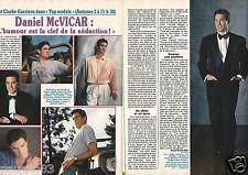 Coupure de presse Clipping 1990 Daniel McVicar (2 pages) Top Models