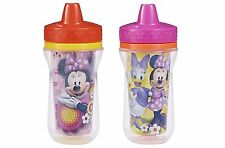 The First Years 2 Pack 9 Ounce Insulated Sippy Cup, Minnie Mouse NEW
