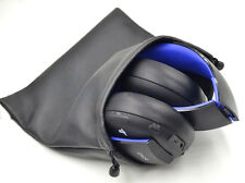 Black PU Headphone pouch BAG for SONY gold Wireless PS3 PS4 7.1 Virtual headset