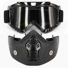 Anti-Fog Goggles Eyewear & Removable Mouth Guard for BMX ATV Motorcycle Helmet