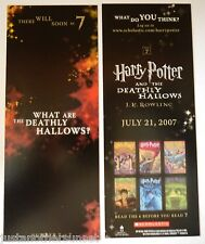 Harry Potter Deathly Hallows Promo Bookmark What are the Deathly Hallows? 7of7