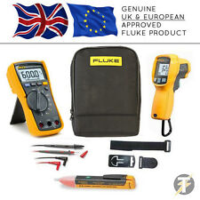 Fluke 115 True RMS Multimeter + 62 MAX Plus + TPAK3+1AC+C115 Case