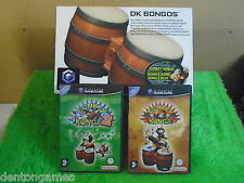 gamecube DONKEY KONG Konga x2 1 + 2 + Boxed BONGOS Nintendo PAL UK Version