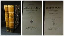 Storia della letteratura italiana di Adolfo Gaspary Vol I-2 Torino Loescher 1887