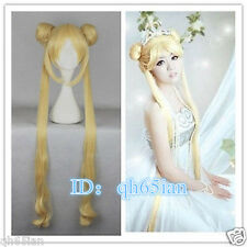 HOT Nuovo Donna Parrucca mista GOLDEN SAILOR MOON TSUKINO USAGI Cosplay Parrucca Party
