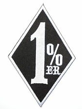 1%er Biker Outlaw Rider Motorbike Embroidered Iron On Jacket Shirt Badge Patch