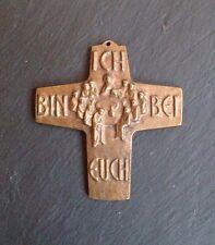 Modernes Bronzekreuz, Bronze, Kreuz, Kruzifix Abendmahl Ich Bin Bei Euch