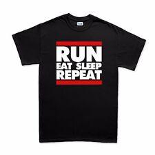 Run DMC Eat Sleep Repeat Runners Running T shirt - Men's Women's Kids