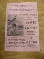 16/10/1963 Oxford United v Bradford  . Thanks for viewing this item, buy with co