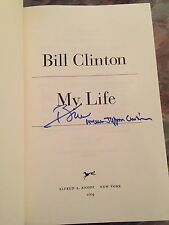 "WILLIAM JEFFERSON CLINTON BILL SIGNED AUTOGRAPH ""MY LIFE"" FIRST EDITION BOOK 1/1"
